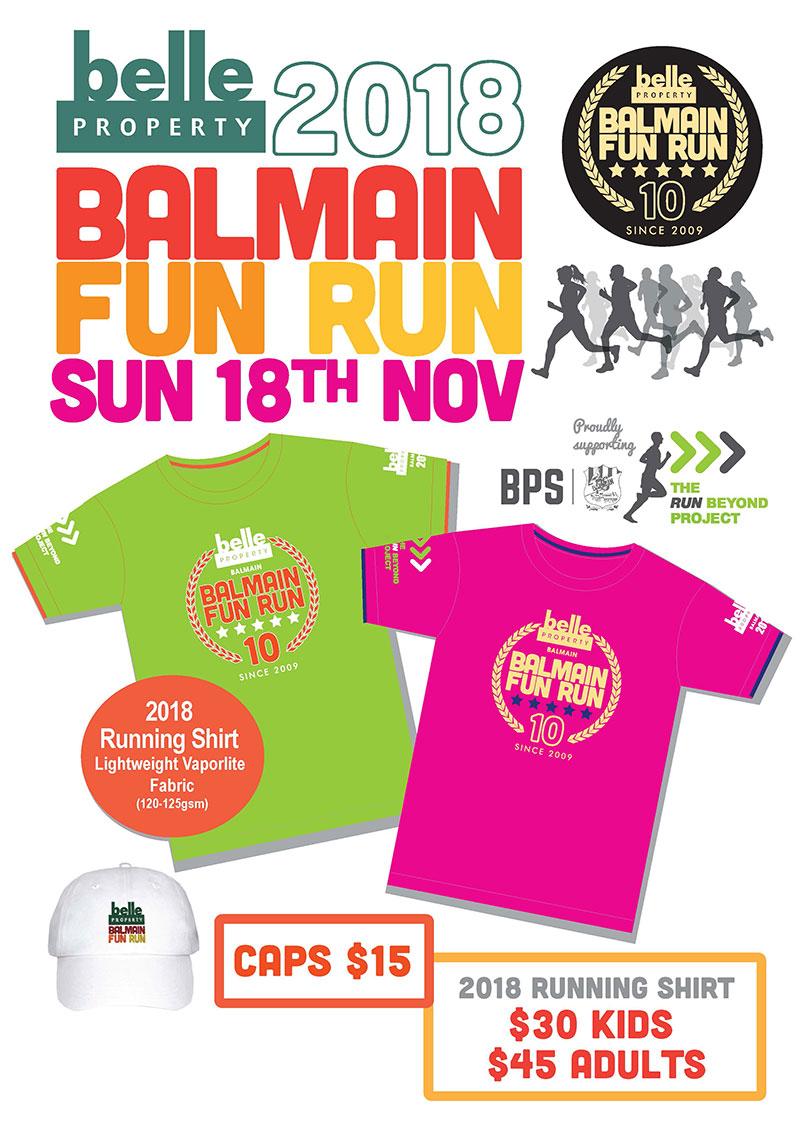 Belle Property Balmain Fun Run Merchandise available